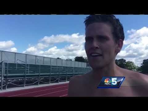 Vermont man sets world record for barefoot running
