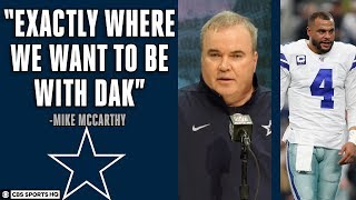 Dallas Cowboys Mike McCarthy Press Conference on DAK PRESCOTT CONTRACT SITUATION | CBS Sports HQ