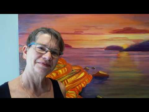 Artist Pauline Langmaid talks about painting her Georgian Bay abstract landscape