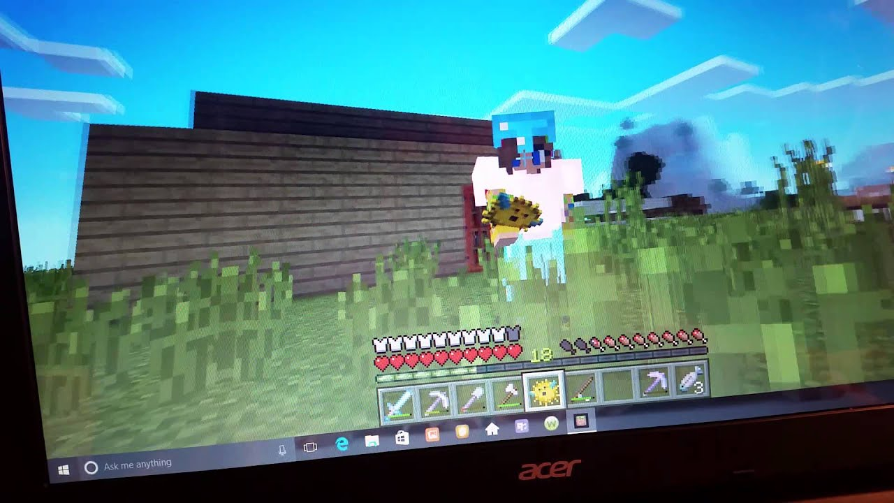 What happens when you eat a puffer fish on minecraft - YouTube