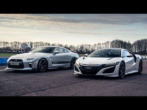 Acura NSX Vs Litchfield-Tuned Nissan GT-R Top Gear Drag Race