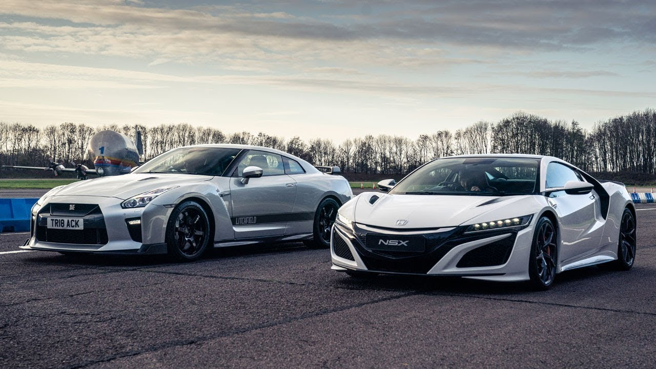 Honda NSX vs Litchfield GT-R | Drag Races | Top Gear