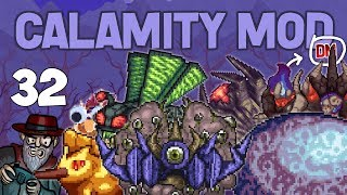 terraria 32 one hitting bosses the lorde calamity mod d mode lets play