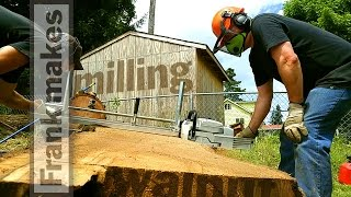 Chainsaw Milling a Walnut Tree