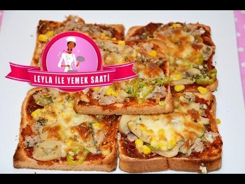 Tost Ekmeğinden Pizza Tarifi - Toastbrot Pizza