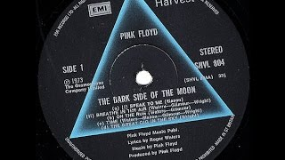 The dark side of the moon - Vinyl - Side 1