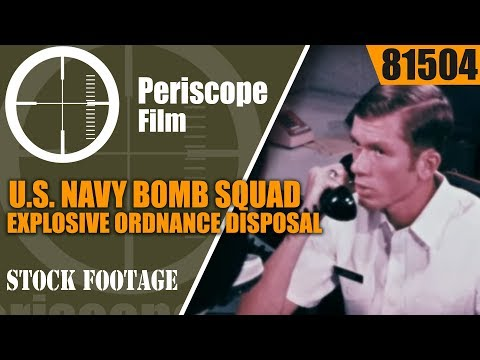 U.S. NAVY BOMB SQUAD  EXPLOSIVE ORDNANCE DISPOSAL EOD UNIT  81504