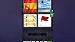 4 Bilder 1 Wort Lösung [Spanien Flagge, Flugzeug, Schild, Flagge]