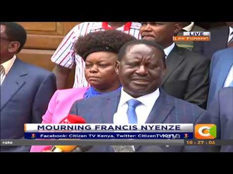 I enjoyed working with Francis Nyenze- Raila Odinga