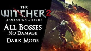 The Witcher 2 Level 1 - All Bosses on Dark【No Damage, Rolling, Potions, Signs*, Armor, Traps, Bombs】