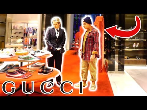 WEARING RAGS TO THE GUCCI STORE!!
