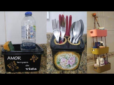 organizador/ideias-com-potes-de-sorvete/faça-você-mesmo/decoração-de-cozinha-e-decoração-de-banheiro