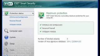Eset Smart Security 5 and Eset NOD32 Antivirus  2011 to 2013.
