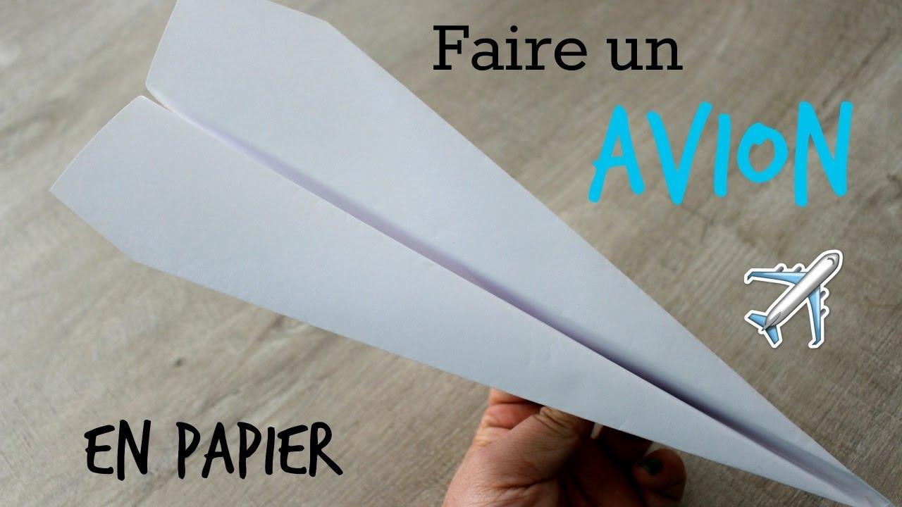 Tuto rapide r aliser un avion tr s simple en papier youtube - Tuto avion en papier ...