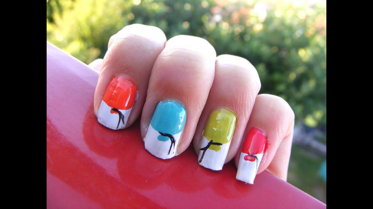 Easy birthday nail art! - YouTube