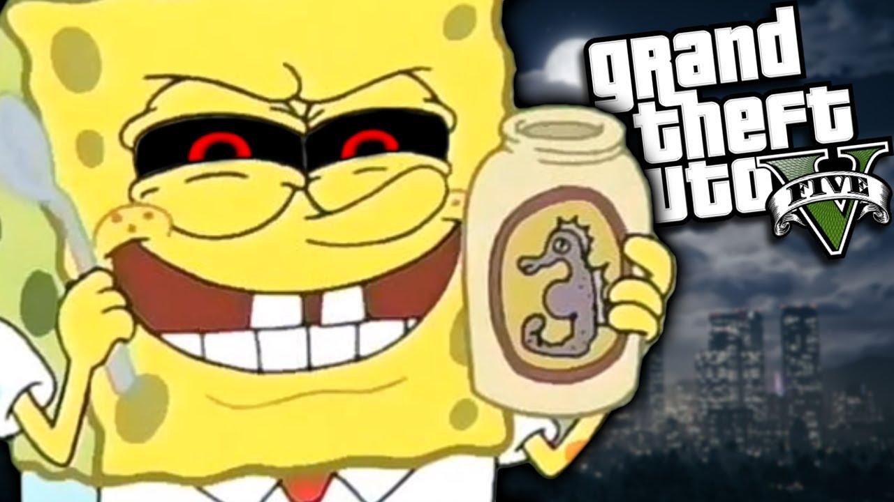 Gta  Mods Evil Spongebob Exe Mod Gta  Pc Mods Gameplay