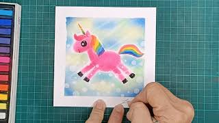 How to Paint Magical Unicorn in Japanese Styled Pastel Nagomi Art 和谐粉彩独角兽