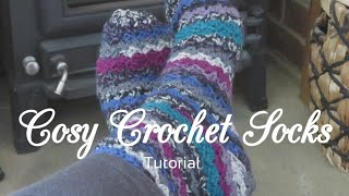 Kit 2019 - Cosy Socks This tutorial was an exclusive tutorial for one of my previous crochet kit for my cosy crochet socks. As I no longer sell kits I thought it would ...