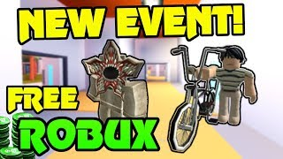 🔴 FREE ROBUX GIVEAWAY!!! | NEW STRANGER THINGS EVENT!!  | NEW MIKE BIKE (FREE)!  | Roblox Live