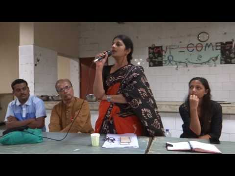 Dr. Megha Pansare, daughter-in-law of late Govind Pansare talks at Lohit Mess JNU on 19.07.2016