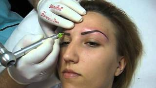 Tatuaj sprancene make-up artist Zarescu Dan Clinica Slimart micropigmentare sprancene