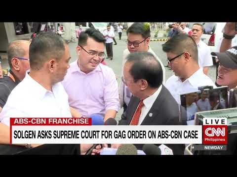 SolGen Asks Supreme Court For Gag Order On ABS-CBN Case