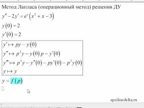 Операционное метод решения задачи коши алгоритм решения задач в коррекционной школе