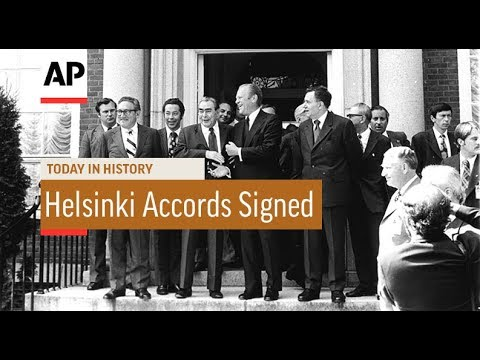 Helsinki Accords Signed - 1975  | Today In History | 1 Aug 17