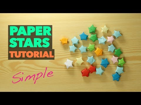 How to Make lucky Paper Star ORIGAMI / Chinese paper star VERY EASY tutorial / DIY