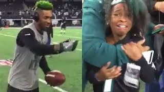 Jalen Mills Makes a Young Eagles Fan CRY - The Fumble