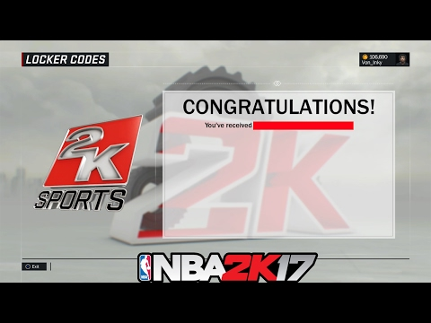NBA 2K17 Free Locker Code ⋆#NBA2K17⋆ 😱👍🔥🔐