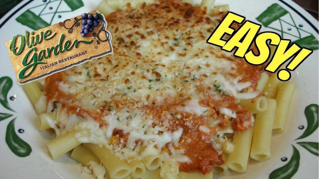 Olive Garden Copycat 5 Cheese Ziti Al Forno Recipe Youtube