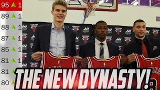 THE NEW DYNASTY! Rebuilding the New Look Bulls! NBA 2K18