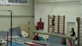 Фабрикова Варвара, спортивная гимнастика, программа 1-го юношеского разряда, бревно.