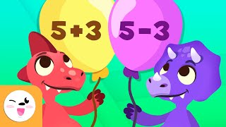 Addition and Subtraction wİth Dinosaurs - Math for Kids - Math Operations