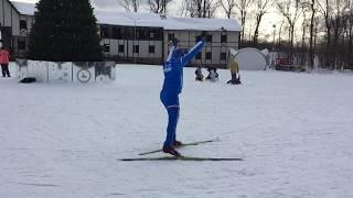 Беговые лыжи! Обучение с нуля.