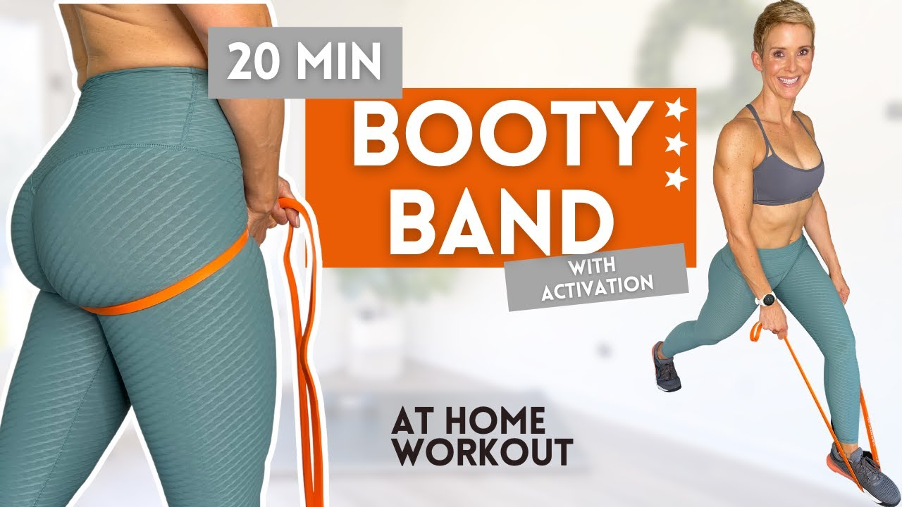 20 MIN BOOTY BAND WORKOUT AT HOME WITH ACTIVATION