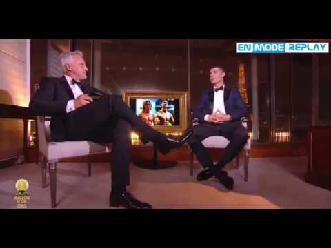 Ballon d'Or 2017 : L'interview de Cristiano Ronaldo (Paris)