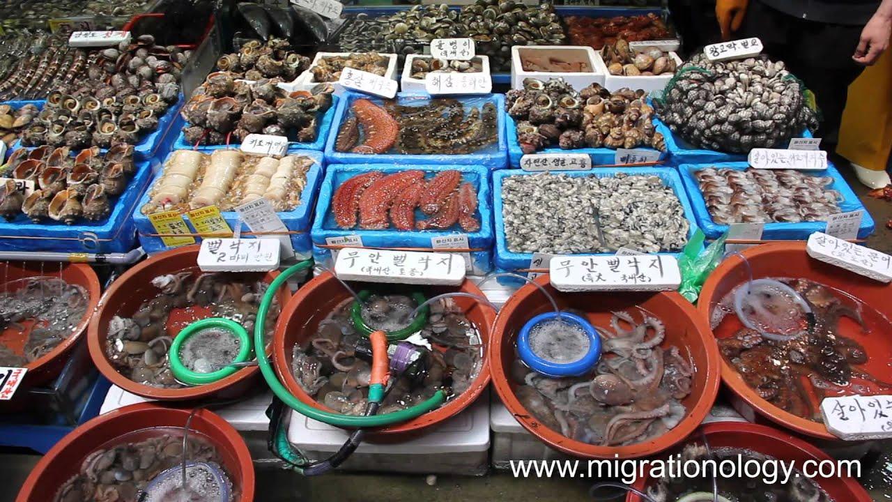 Fresh Seafood At Noryangjin Fish Market In Seoul South Korea