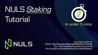 NULS Staking Tutorial (Stake NULS in under 3 mins)