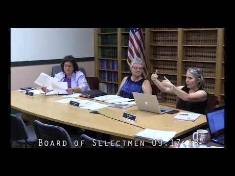 Board of Selectmen 09.17.18
