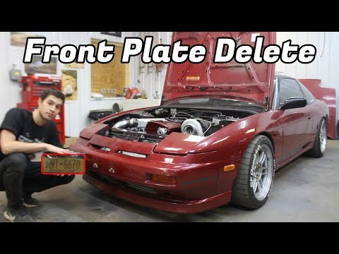 How To: Front License Plate Delete