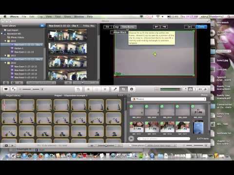 Claymation Editing with iMovie