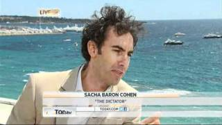 Sacha Baron Cohen interviewed at Cannes Film Festival 2012