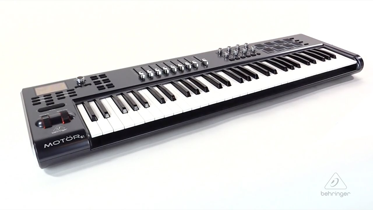 mot r 61 61 key usb midi master controller keyboard with