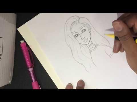 How To Draw A Girl Speeddraw | Nitra ♡