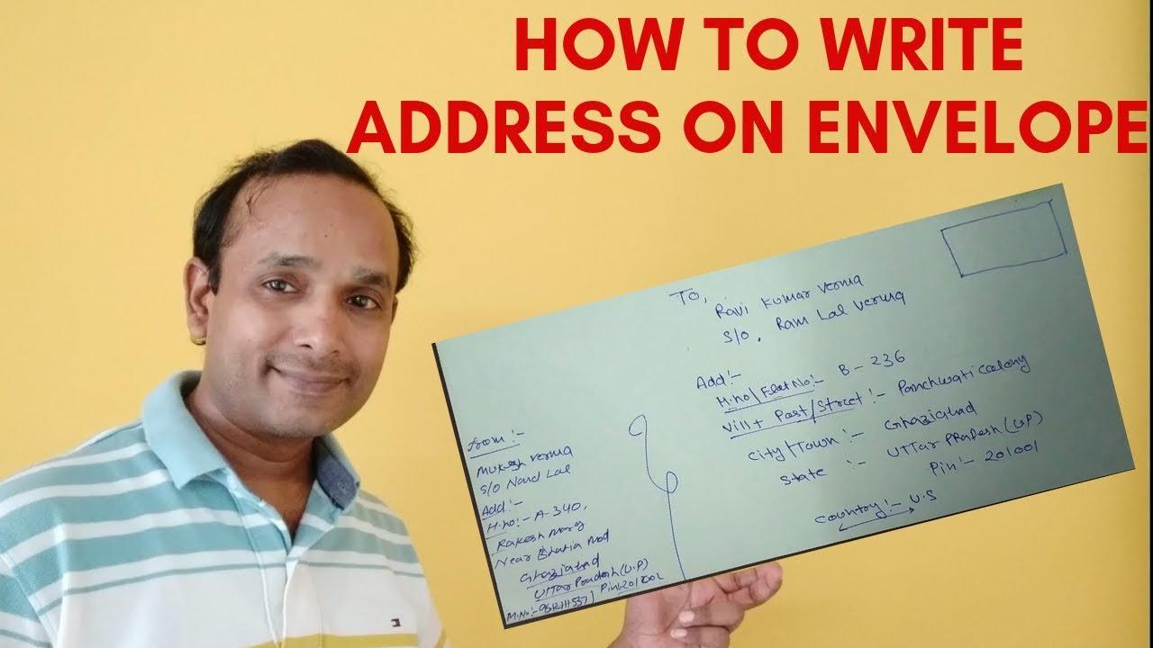 how to write address on envelope