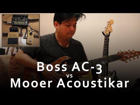 Boss AC-3 vs Mooer Acoustikar - Full comparison video