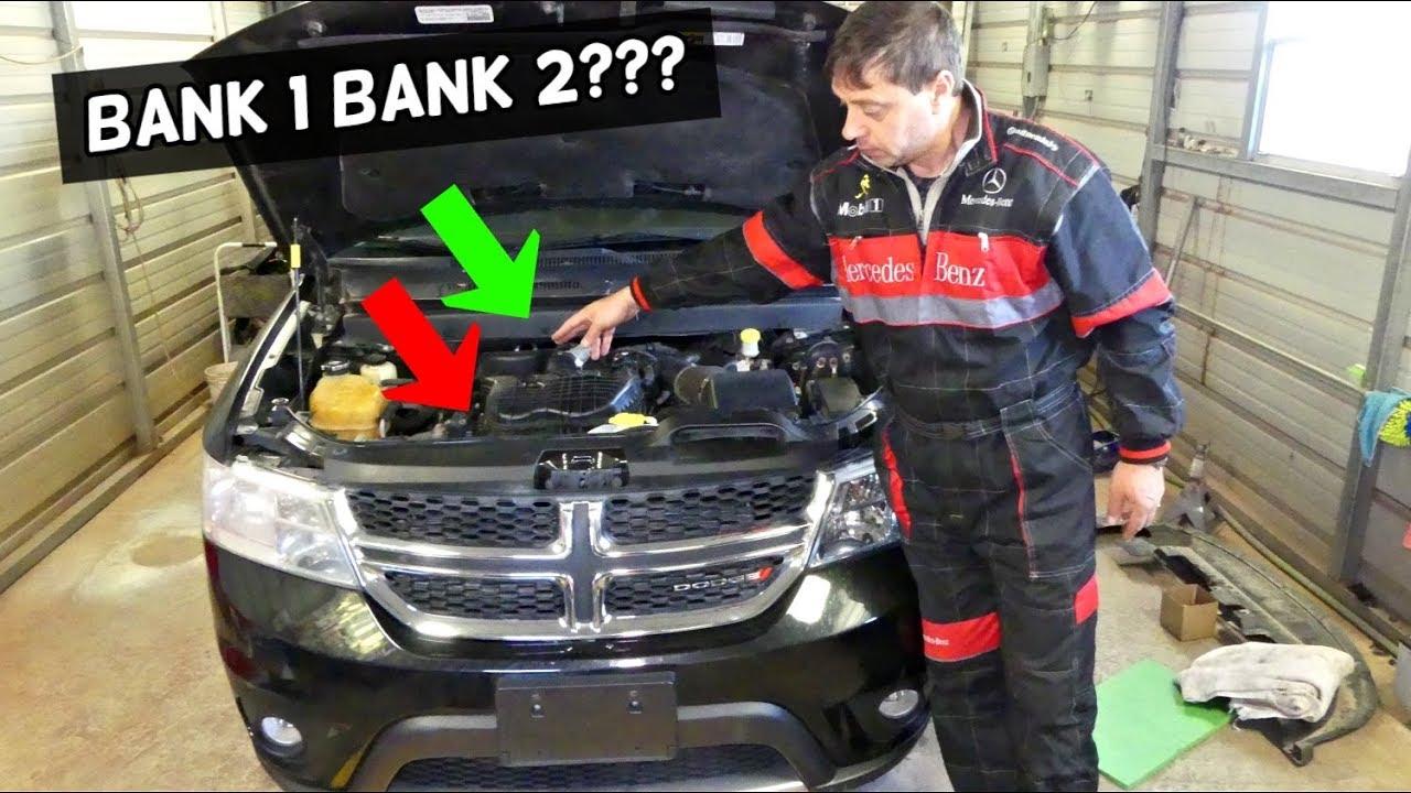 PENTASTAR 36 V6 WHICH SIDE IS BANK 1 BANK 2 DODGE