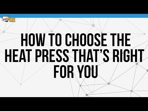 How To Choose The Heat Press That's Right For You